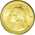 Commemorative Gold: , 1903 G$1 Louisiana Purchase/Jefferson MS66 PCGS. This is a sharplydetailed and highly lustrous Premium Gem with deep honey...