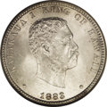 Coins of Hawaii: , 1883 25C Hawaii Quarter MS66 NGC. In 1883, the San Francisco Mintproduced a series of silver coinage for the Kingdom of Ha...