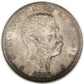Coins of Hawaii: , 1883 50C Hawaii Half Dollar MS64 NGC. This is a lovely near-Gemexample with gray-brown toning on both sides, accented by p...