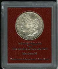 1900-S $1 MS65 Paramount International (MS62). Ex: Redfield. Lustrous beneath hazy patina and peripheral splotches of au...