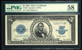 Large Size:Silver Certificates, Fr. 282 $5 1923 Silver Certificate PMG Choice About Unc 58.. ...