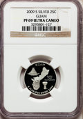 Proof Statehood Quarters, 2009-S 25C Guam Silver PR69 Ultra Cameo NGC. PCGS Population (2051/333). Numismedia Wsl. Price for prob...