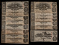 Confederate Notes:1863 Issues, T59 $10 1863 Fourteen Examples and T60 $5 1863. . ... (Total: 15notes)