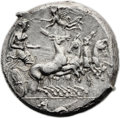 Ancients:Greek, Ancients: Himera. Ca. 409-407 BC. AR tetradrachm (25mm, 17.34 gm,6h). ...