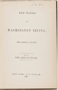 Books:Literature Pre-1900, Washington Irving. The Sketch-Book. Volume II of TheWorks of Washington Irving. New York: Putnam, 1860. Revised...