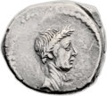 Ancients:Roman Republic, Ancients: Julius Caesar (42 BC). AR denarius (18mm, 3.98 gm, 9h)....