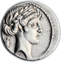 Ancients:Roman Republic, Ancients: Q. Pomponius Musa (56 BC). AR denarius (19mm, 3.95 gm, 12h)....