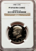 Proof Kennedy Half Dollars: , 1980-S 50C PR69 Ultra Cameo NGC. NGC Census: (1092/52). PCGSPopulation (6059/148). Numismedia Wsl. Price for problem free...