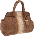 Luxury Accessories:Bags, Prada Natural Python Large Tote. ... (Total: 2 Items)