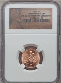 Lincoln Cents, 2009 1C Formative Years, First Day Ceremony MS65 Red NGC. PCGSPopulation (6039/1742). (#407835)...