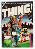 Golden Age (1938-1955):Horror, The Thing! #16 (Charlton, 1954) Condition: FN/VF....