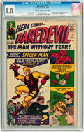 Silver Age (1956-1969):Superhero, Daredevil #1 (Marvel, 1964) CGC VG/FN 5.0 Cream to off-whitepages....