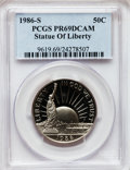 Modern Issues, 1986-S 50C Statue of Liberty Silver Half Dollar PR69 Deep CameoPCGS. PCGS Population (6533/83). NGC Census: (9016/485). M...