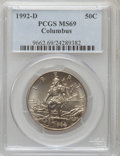 Modern Issues: , 1992-D 50C Columbus Half Dollar MS69 PCGS. PCGS Population(1283/95). NGC Census: (690/151). Mintage: 135,718. Numismedia W...