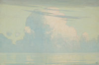 HERMANN DUDLEY MURPHY (American, 1867-1945) Clouds and Water Oil on canvas 20 x 30 inches (50.8 x
