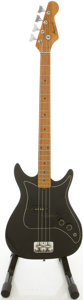 Musical Instruments:Bass Guitars, Circa 1970's Harmony Black Electric Bass Guitar....