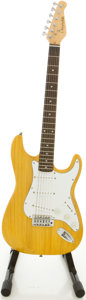 Musical Instruments:Electric Guitars, J. Reynolds S-Style Natural Solid Body Electric Guitar....