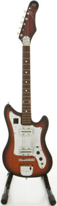 Musical Instruments:Electric Guitars, Circa 1960's Kingston Redburst Solid Body Electric Guitar....