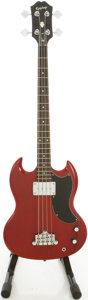 Musical Instruments:Bass Guitars, Epiphone SG EB-0 Cherry Electric Bass Guitar....