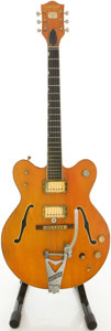 Musical Instruments:Electric Guitars, 1967 Gretsch Nashville Orange Semi-Hollow Body Electric Guitar,#17324....