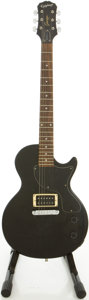 Musical Instruments:Electric Guitars, Epiphone L.P. Junior Black Solid Body Electric Guitar,#SJ03061093....