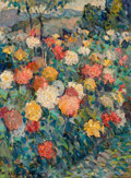 Paintings, ALEXANDRE ALTMANN (Russian, 1885-1950). Field of Flowers. Oil on canvas. 32 x 23-1/2 inches (81.3 x 59.7 cm). Signed low...