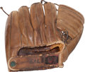 Baseball Collectibles:Others, 1940's Denny Galehouse Game Worn Fielder's Glove....