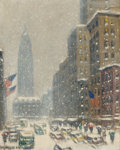Fine Art - Painting, American, GUY CARLETON WIGGINS (American, 1883-1962). Winter. Oil onboard . 22 x 18 inches (55.9 x 45.7 cm). Signed lower left: ...(Total: 2 Items)