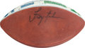 Football Collectibles:Balls, 1993 Troy Aikman Game Used, Signed Presentational Game Football from Divisional Playoff Game Vs. Eagles....