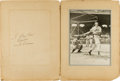 Autographs:Others, Early 1940's Ted Williams Signed Photograph & Folder....