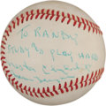 Autographs:Baseballs, Circa 1970 Nestor Chylak Single Signed Baseball....