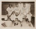 Autographs:Photos, Circa 1950 Jackie Robinson, Roy Campanella & Don NewcombeSigned Photograph....