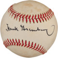 Autographs:Baseballs, 1980's Hank Greenberg Single Signed Baseball. ...