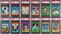 Baseball Cards:Lots, 1975 Topps Mini Baseball PSA Gem MT 10 Collection (12). ...