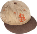 Baseball Collectibles:Uniforms, 1946 St. Louis Browns Game Worn Cap. ...