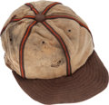 Baseball Collectibles:Uniforms, 1940-45 St. Louis Brown Game Worn Cap....