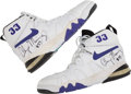 Basketball Collectibles:Others, Circa 1993 Alonzo Mourning Game Worn Sneakers....