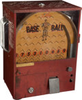 "Baseball Collectibles:Others, 1930's ""Play Base Ball"" Gumball Machine...."