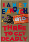Books:Fiction, Janet Evanovich. SIGNED. Three to Get Deadly. New York:Scribner, 1997. First edition, first printing. Signed ...