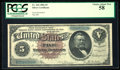 Large Size:Silver Certificates, Fr. 264 $5 1886 Silver Certificate PCGS Choice About New 58.. ...