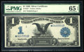 Large Size:Silver Certificates, Fr. 233* $1 1899 Silver Certificate PMG Gem Uncirculated 65 EPQ.. ...