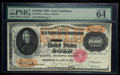Large Size:Gold Certificates, Fr. 1225h $10000 1900 Gold Certificate PMG Choice Uncirculated 64.....