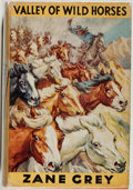 Books:Fiction, Zane Grey. Valley of Wild Horses. London: Hodder &Stoughton, 1947. First edition, first printing. Octavo. 287 p...