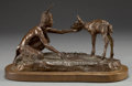 Sculpture, BOB SCRIVER (American, 1914-1999). Nature's Children, 1974. Bronze with patina. Ed. 15/35. 7 inches (17.8 cm) including ...