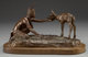 BOB SCRIVER (American, 1914-1999) Nature's Children, 1974 Bronze with patina Ed. 15/35 7 inches (17.8 cm) including
