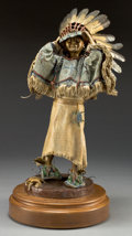 Sculpture, DAVE MCGARY (American, b. 1958). In Her Father's Footsteps. Bronze with polychrome. 21 inches (53.3 cm) including base. ...