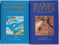 Books:Fiction, J. K. Rowling. Two Harry Potter Deluxe First Editions, including:Harry Potter and the Chamber of Secrets. Londo... (Total: 2Items)