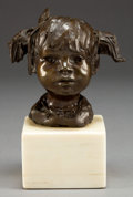 Sculpture, GLENNA GOODACRE (American, b. 1939). Precious Flower. Bronze with patina. 7-1/2 inches (19.1 cm) including base. Ed. 7/1...