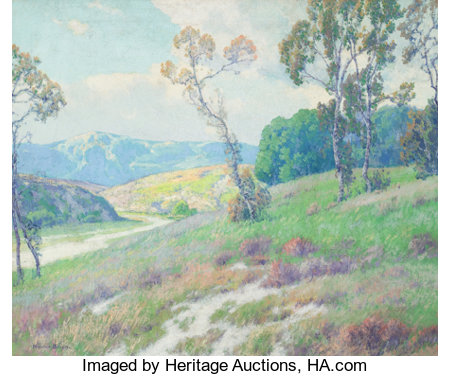MAURICE BRAUN (American, 1877-1941) A Day in June Oil on canvas 25 x 30 inches (63.5 x 76.2 cm) Signed lower left: ...