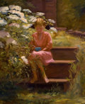 Fine Art - Painting, American, SUSAN RICKER KNOX (American, 1874-1959). Morning Sun. Oil oncanvas. 27-3/4 x 24 inches (70.5 x 61.0 cm). Signed lower l...